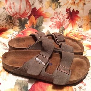 Birkenstock Arizona Soft Footbed Suede Sandals
